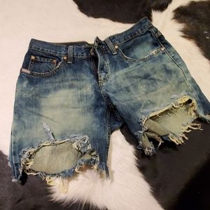 Cut off jean shorts frayed size 28 - 29